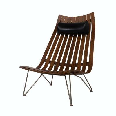 Lounge Chair by Hans Brattrud Model Scandia for Hove Møbler, Norway 1960