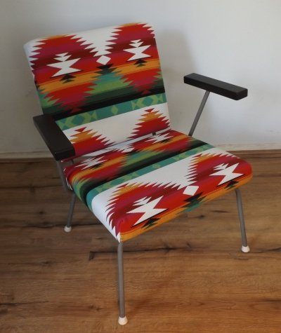 2 x model 415 arm chair by Wim Rietveld for Gispen, 1950s