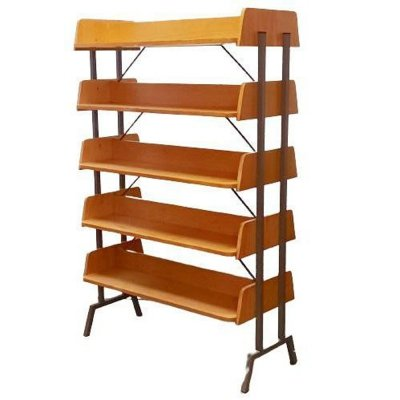 Vintage Double-Sided Bookcase, 1960s