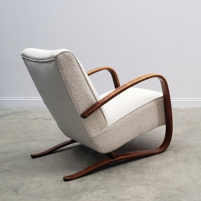 Jindrich Halabala for Thonet H-269 Armchair in Boucle, 1930