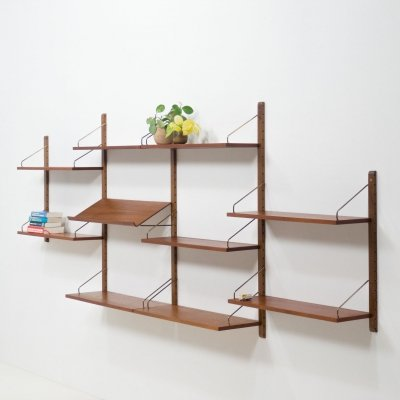 Royal System teak wall unit by Poul Cadovius, 1950s