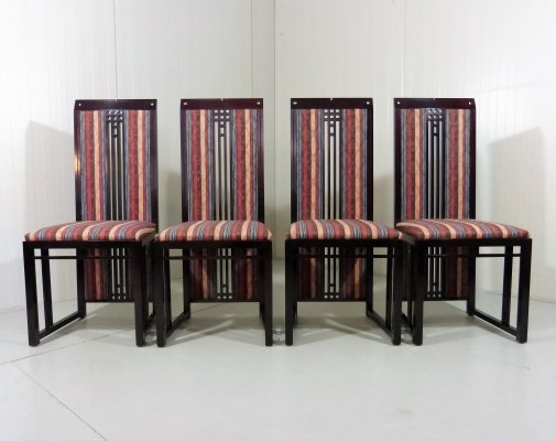 Set of 4 dining chairs by Umberto Asnago for Giorgetti, Italy