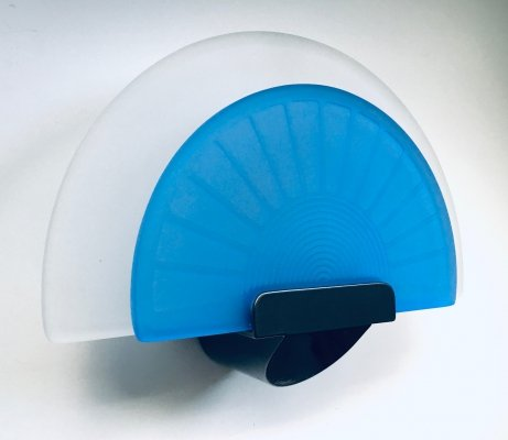 Italian Design Diva Blue Wall Lamp Sconce by Ezio Didone for Arteluce, Italy 1980's