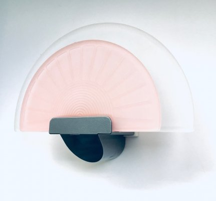 Italian Design DIVA Pink Wall Lamp Sconce by Ezio Didone for Arteluce, Italy 1980's