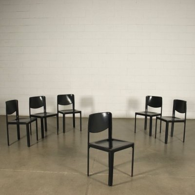 Set of 6 Dining Chair by Tito Agnoli for Matteo Grassi, 1980s