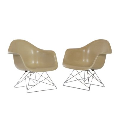 Pair of LAR Armchairs by Charles & Ray Eames for Herman Miller, 1970s