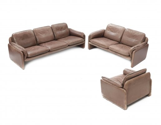3 + 2 + 1 DS 61 Seating group by De Sede Exclusiv, 1980s
