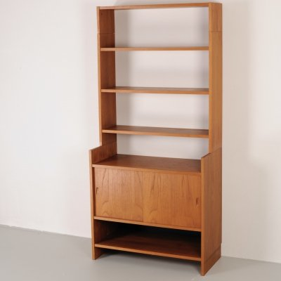 Teak 1960's wall unit by Poul Cadovius for Mutters-KLM