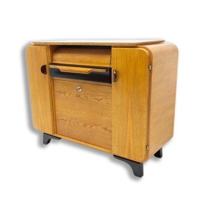 Mid century cabinet with build-in gramophone by Jindřich Halabala for UP Závody