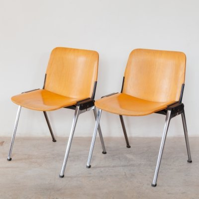 Vintage Stacking chairs from Velca Legnano Milano, Italy 1960s