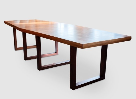 Large Modern Boat Shape Conference / Dining Table by De Coene Belgium