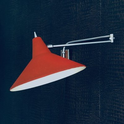 Paperclip Swinging Arm Wall Lamp by J.J.M. Hoogervorst for Anvia, Holland 1960's