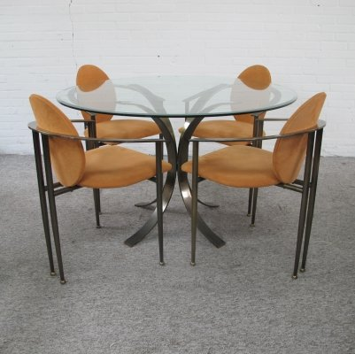 Vintage DeWulf Selection Dining set by Belgo Chrom,1980s