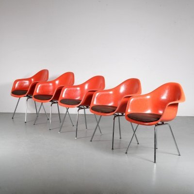 1970s set of 5 dining chairs by Eames for Herman Miller / Vitra, Germany