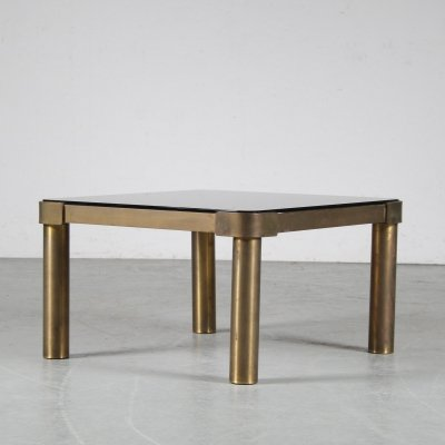 1970s Brass with glass coffee table