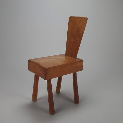 Mid Century Solid Modernist Chair, 1960s