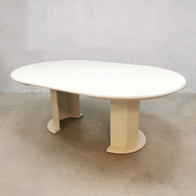 Vintage round extendable dining table by Kondor