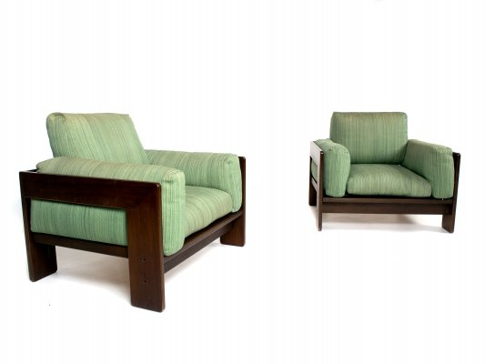 Pair of Scarpa Bastiano Lounge Chairs, Italy 1970s