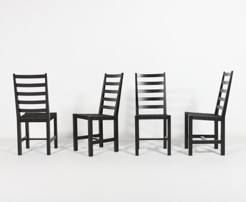 Set of 4 chairs by Christer Larsson for Sven Larsson, Sweden