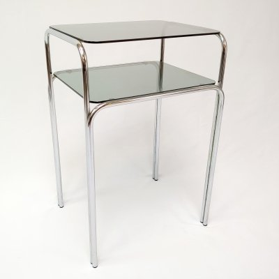 Tubular Steel Small Console Side Table, 1970s