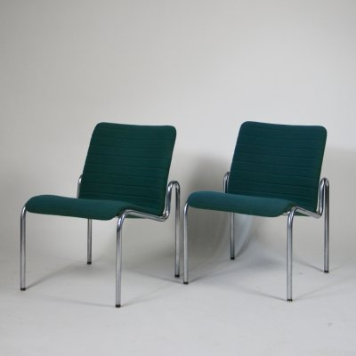 Pair of Vintage Design Kho Liang Ie 703 Lounge chairs for Stabin Woerden