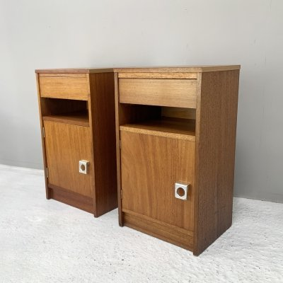 Pair of 1960's G Plan mid century bedside cabinets