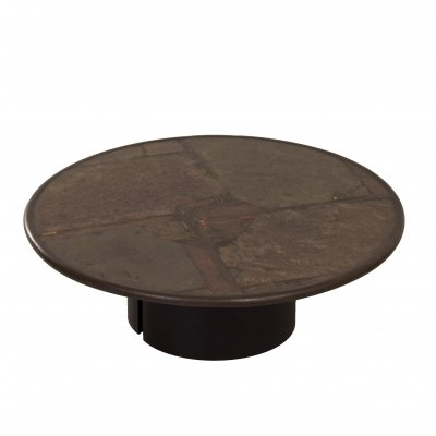 Brown Natural Stone Coffee Table by Paul Kingma, 1990s