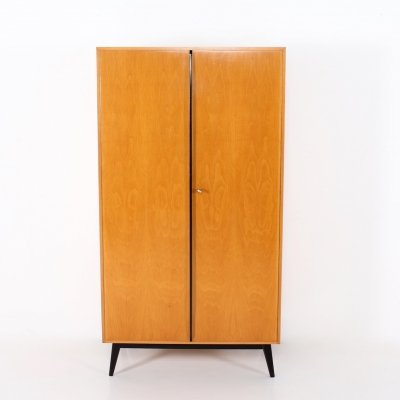 Maple & lacquered beech wardrobe by Rudolf Frank for Erwin Behr, 1950's