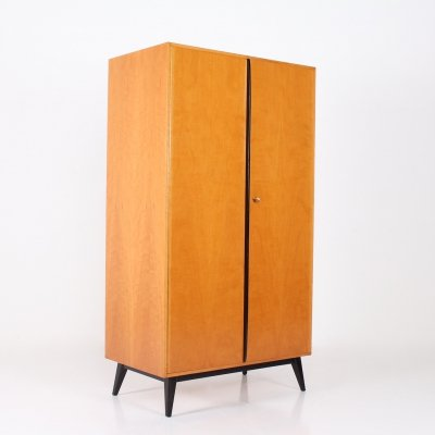 Maple & lacquered beech cabinet by Rudolf Frank for Erwin Behr, 1950's
