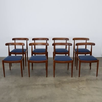 Set of 8 Alfred Hendrickx chairs, 1960s