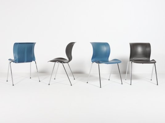 Alfred Homann set of 4 'Ensemble' chairs produced by Fritz Hansen