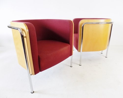 Thonet S 3001 pair of club chairs by Christoph Zschoke
