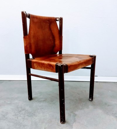 4 x Leather Dining Chair, 1960s