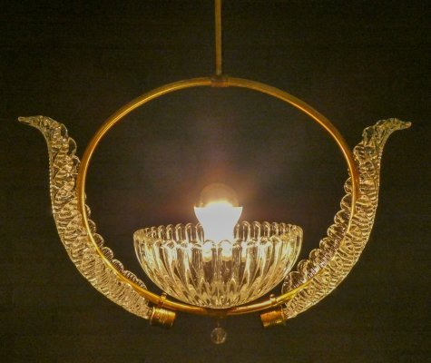 Vintage Murano Chandelier by Ercole Barovier, 1940s
