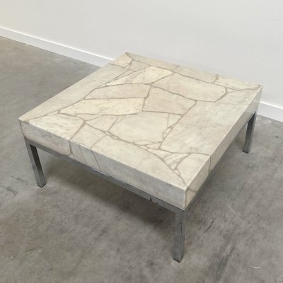 Vintage square stone coffee table, 1970s