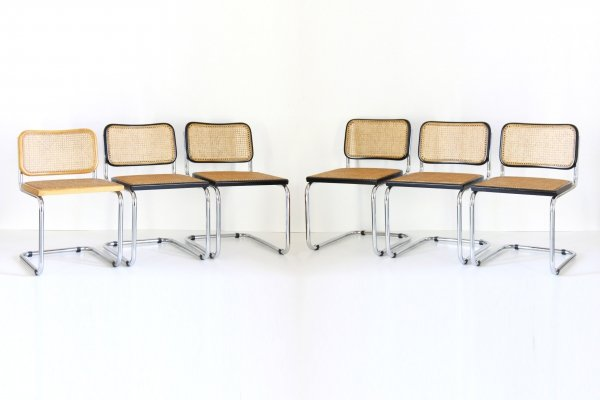 Set of 6 'Cesca' chairs by Marcel Breuer for Gavina, 1960s