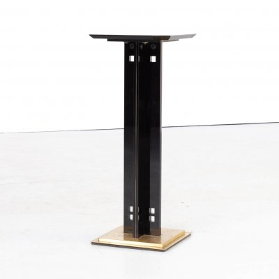 80s pedestal plant stand on brass foot