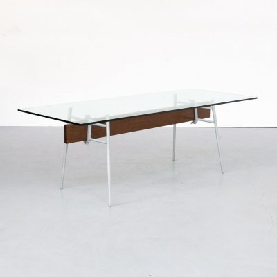 90s Philippe Starck 'M.T. Minimum' glass dining table for Cassina
