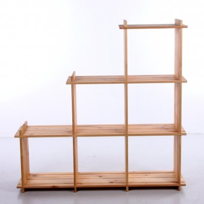 Room divider or compartment cupboard made of pine wood