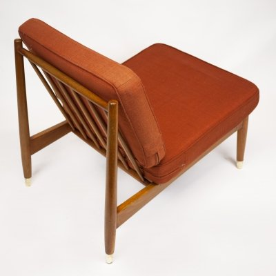 Swedish Beech Low Lounge Chair by Folke Ohlsson for Dux, 1960s