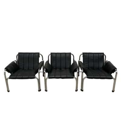 3 x armchair by V. Chlebo, 1980s
