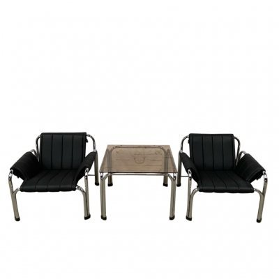 Armchairs & table by Viliam Chlebo, 1980s