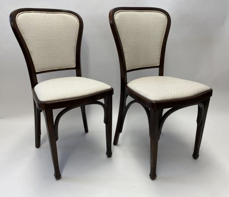 Set of Six Dining Chairs by Gustav Siegel for Thonet
