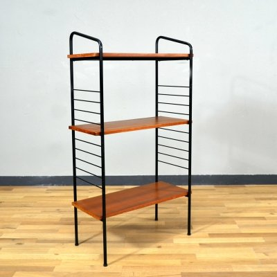 Small Wooden & Metal Bookcase, 1960s