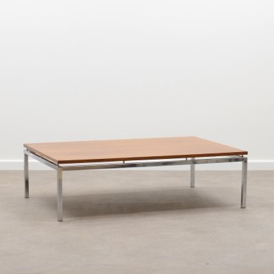 Rosewood & chrome coffee table, 1970s