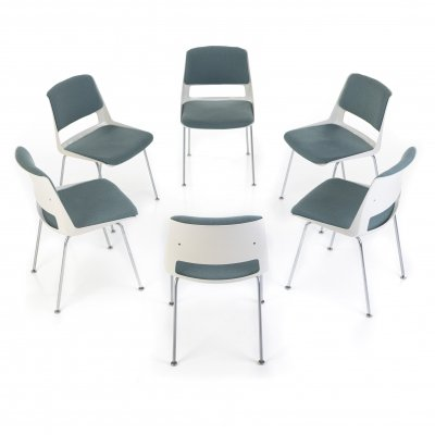 Set of 6 dining chairs by André Cordemeyer for Gispen, 1960s