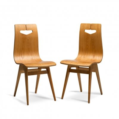 Pair of chairs by R.T. Hałas , 1960s