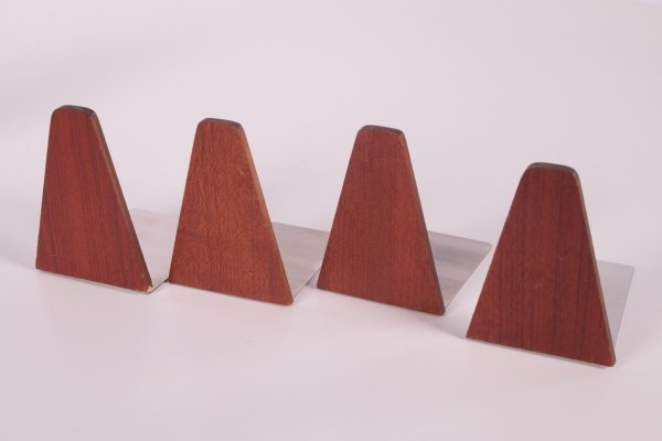 Set of 4 Rosewood Bookends by Kai Kristiansen, 1960s
