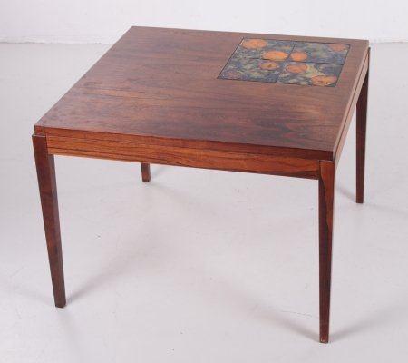 Rosewood Coffee table with ceramic tiles, 1960s