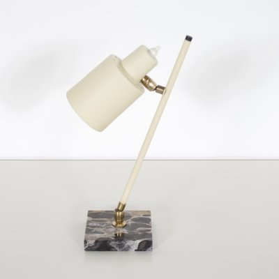 Metal & Marble Table Lamp by Stilux Milano, Italy 1950s